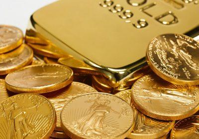 Lingotin et pièces en or